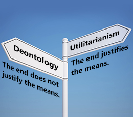 Deontological vs utilitarian ethics essay